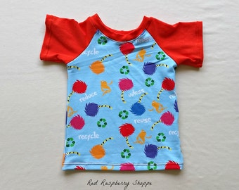 Recycle and Reuse Raglan T-Shirt, 12 months