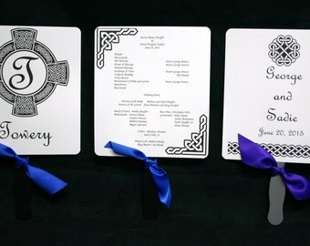 Celtic Personalized Wedding and Special Events Fan Programs