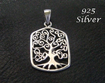 Tree of Life Necklace with a 925 Silver CelticTree of Life Pendant Intricately Detailed - Tree of Life Necklace, Tree of Life Jewelry 059