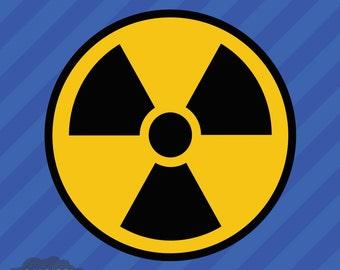 Nuke Radioactive Nuclear Radiation Warning Symbol Vinyl Decal Sticker