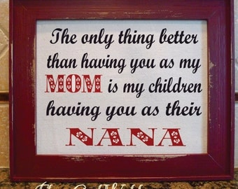 Gift for Mom, Mother's Day, NANA, GIGI, Mother, Grandmother, Custom Gift, Grandma,  Daughter, Mother and Daughter, Mothers Day Gift (mom102)