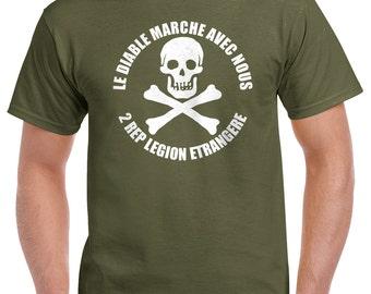 Foreign Legion T-Shirt - Le Diable Marche Avec Nous