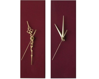 CLC Contemporary Slim Long Wall Clock MAUVE PURPLE 30cm