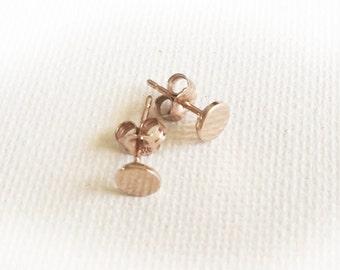 Rose Gold Tiny Studs