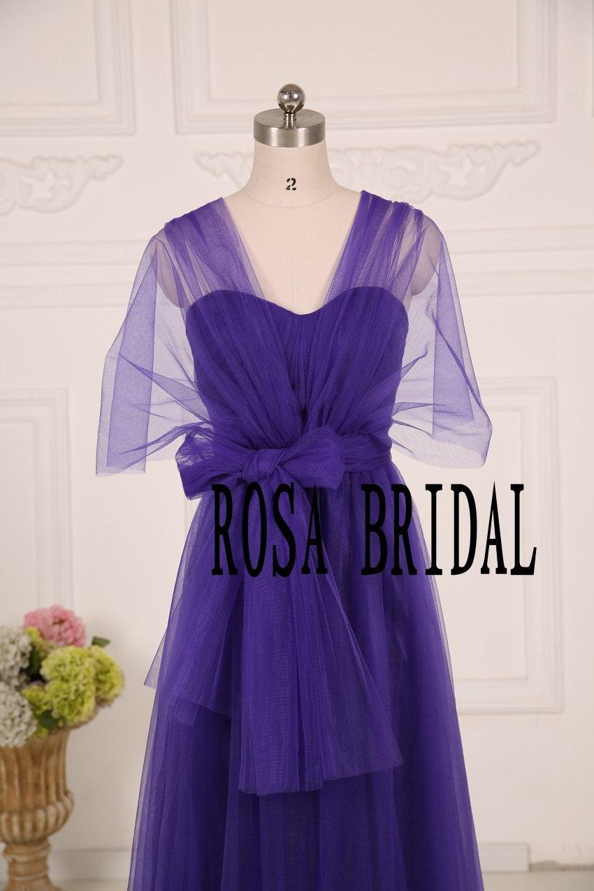 Bridal Eggplant Bridesmaid Dresses Long Summer By Rosabridal