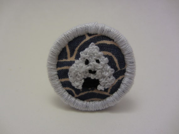 Cute Onigiri Hand Embroidered Merit Badge-Style Patch