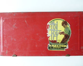 Vintage 1930's Erector Set in Original Box! No. 4 1/2 The Motorized Set with wind up motor.