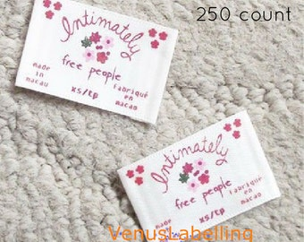 Clothing name label, name tags for clothing, sew on name tags, embroidered name tags, labels, text only,free ship by express post, 250 count