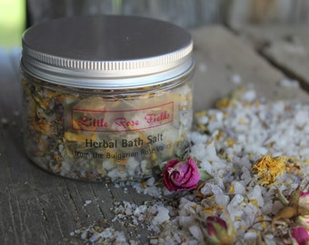 Herbal Bath Salts with Essential Oils  - Aromatherapy Bath