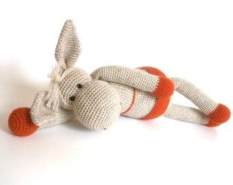 Crochet Donkey, Stuff Animal, Donkey Toy, Donkey Doll, Baby Gift