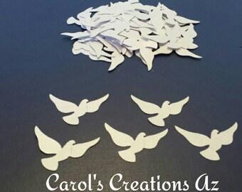 50 Dove Confetti / Dove In Flight Confetti / Dove Die Cut / Bird Confetti / Wedding Dove Confetti / Wedding Confetti / ANY COLOR Available