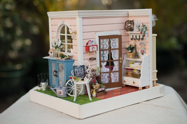 Wooden Dollhouse Miniatures 1 12 Furniture Kit Set For Sale