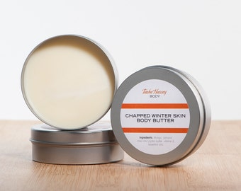 Chapped Winter Skin Body Butter, Dry Skin Body Butter, Winter Skin Moisturizer, Natural Body Butter