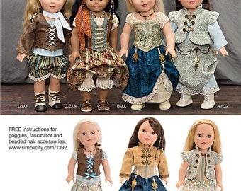 "Simplicity 1392 Steam punk Costume for 18"""" Doll"