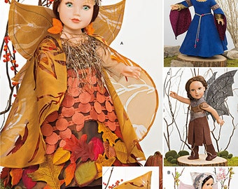 "Simplicity Pattern 1134 Mystical Clothes for 18"""" Dolls"