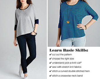 Simplicity Pattern 1062 Misses Knit Tops