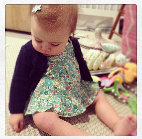 Emmerson tank NB-18m you choose liberty print fabric for blouse crossover straps gentle ruffle