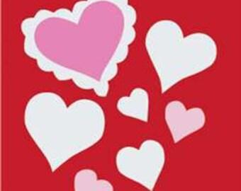 Hearts Handcrafted Applique Garden Flag