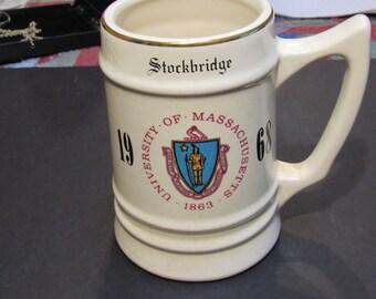 1968 University of Massachusetts large mug stockbridge