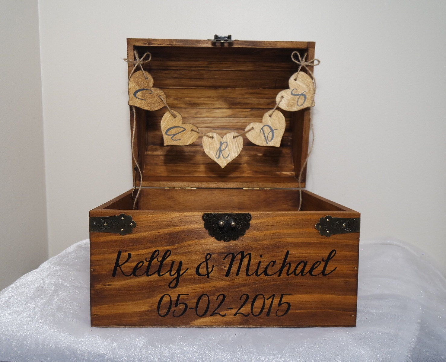 rustic wooden chest wedding card box wedding by. Black Bedroom Furniture Sets. Home Design Ideas