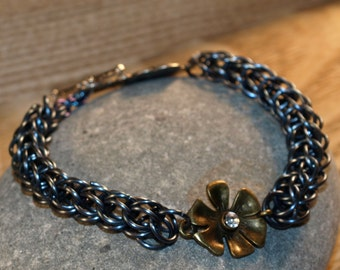Anodized Titanium Full Persian Bracelet
