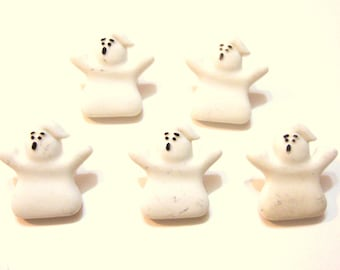 Halloween Ghost Buttons Galore Haunted House Set of 5 Shank Back Halloween - G
