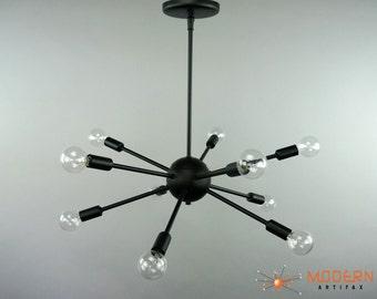 Mid Century Modern Sputnik Atomic Starburst Chandelier