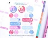 19 Date Night Stickers! Perfect for your Erin Condren Life Planner, Filofax, Kikkik, Plum Paper , or scrapbooking! #SQ00653