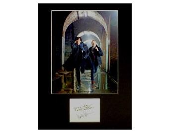 Sherlock AUTOGRAPH photo display Benedict Cumberbatch Martin Freeman Sherlock Holmes Doctor Watson