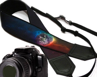 InTePro galaxy camera strap. Cosmos Camera strap.  SLR/ DSLR Camera Strap. Camera accessories.