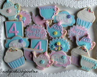 1 dozen tea party cookies!