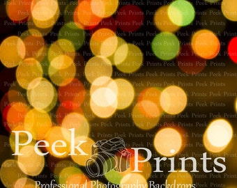 5ft.x5ft. Christmas Light Bokeh Vinyl Photography Backdrop- Christmas Background
