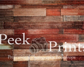 4ft.x3ft. Rickety Red- Red Barn Wood Plank Floor Photo Background