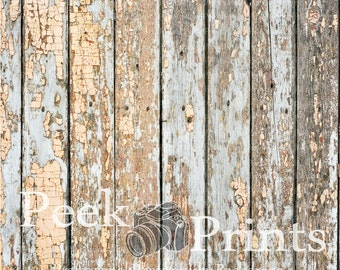 3ft.x3ft. Chippy Blue- Peeling Paint- Vinly Photography Backdrop- Photographic Background