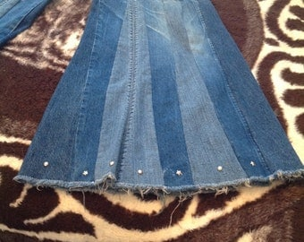 WESTERN PALAZZO JEANS With Godet Insets