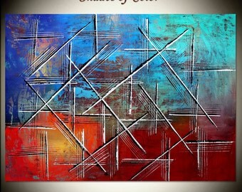 """Painting 50"""" -  , original handmade oil painting on canvas, thick layers, Modern style, By Maitreyii"""