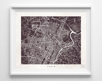 Turin Map, Italy Print, Turin Poster, Italy Art, Art Prints, Giclee Art Poster, Kids Room Decor, Wall Decor, Giclee, Back To School
