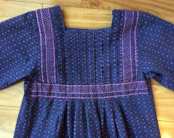 Vintage 1969 lavender and plum Marimekko dress M/L