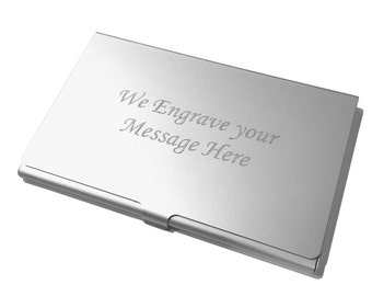 Free Custom Engraved Business Card Holder Credit Card Holder