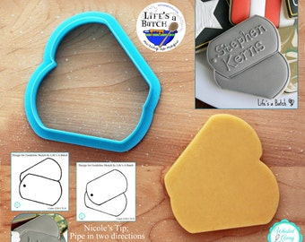 Dogtags Cookie Cutter and Fondant Cutter by Life's a Batch - **Two Guideline Sketches to Print Below**
