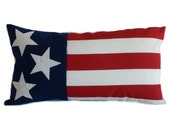 Outdoor pillow, 12x22, Outdoor pillow cover, American flag pillow, Patriotic pillow, Patriotic decor, 4th of July pillow, Fourth of July