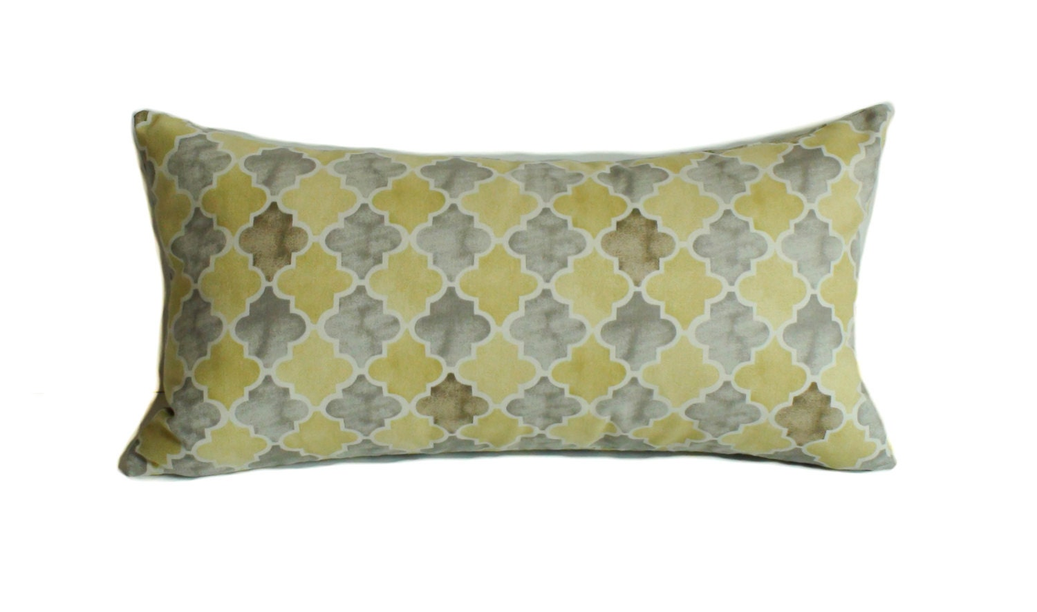 Yellow pillow cover Gray pillow Pillow cover Throw pillow