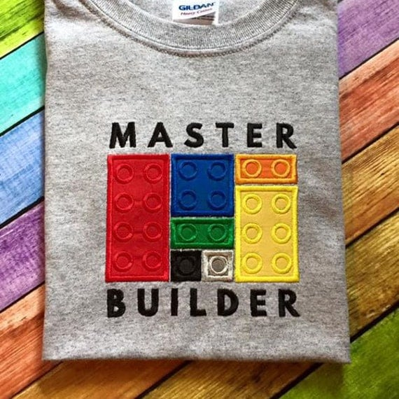 Lego Master Builder Applique Embroidery Design