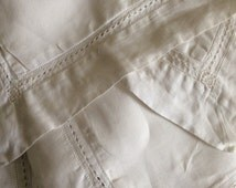 Vintage Pair of Oxford Pillowcases  Vintage White Pillowcases  White Linen