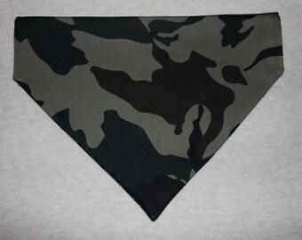 Camouflage Patterned Dog Bandana in Small, Medium & Large