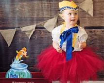 Boutique custom handmade pageant girls Pinocchio Storybook Costume, 12mo-7/8