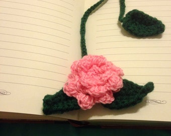 Pink rose bookmark