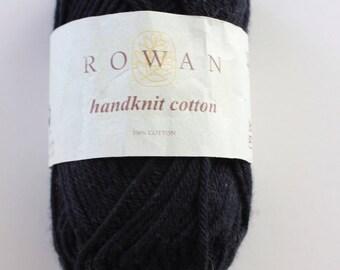 Rowan Handknit Cotton - Black (Shade 252) - 50g ball - 100% pure cotton