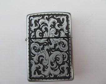 Zippo  Chrome  Lighter  with Front  Design   New