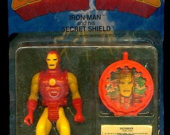1984 Iron Man w/ Secret Shield SEALED Marvel Super Heroes